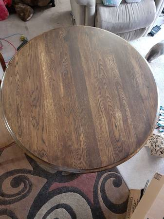 Photo Solid Wood Dining Table and Chairs - $200 (Fargo)