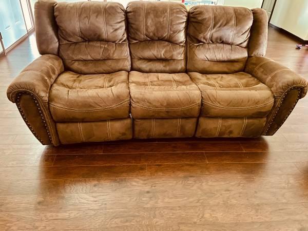 Photo Two seat reclining cloth sofa - $600 (Fargo)
