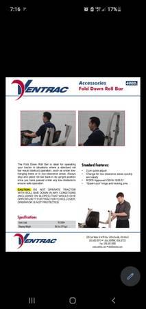 Photo Ventrac fold down roll bar - $200 (Fargo)