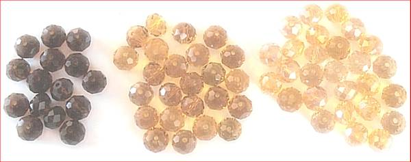 Photo BEADS BROWN DARK GOLDEN BROWN AMBER 66 8mm X 6mm ROUND OVAL JEWELRY - $5 (RIO RANCHO)