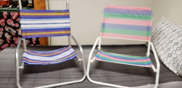 Photo Beach Chairs, Low Profile--Set of 2 - $8 (Farmington)