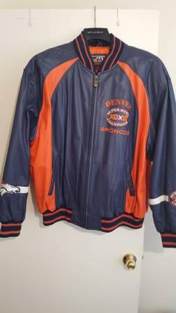 Photo Denver Broncos Super Bowl XXXII Leather Jacket (Albuquerque, New Mexico)