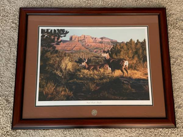 Photo Red Rock Bucks - NWTF - Signed And Numbered Print - $60.00 - $60 (Farmington, (near Lowes))