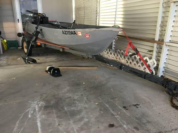Photo USED 12 FT. ALUMINUM BOAT, TRAILER, TROLLING MOTOR - $1,625 (Flagstaff, Arizona)