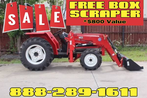 Photo YNM F-26 Tractor FREE Box Scraper Included - $800 Value (Call Us About Our Lay-A-Way Program Today)