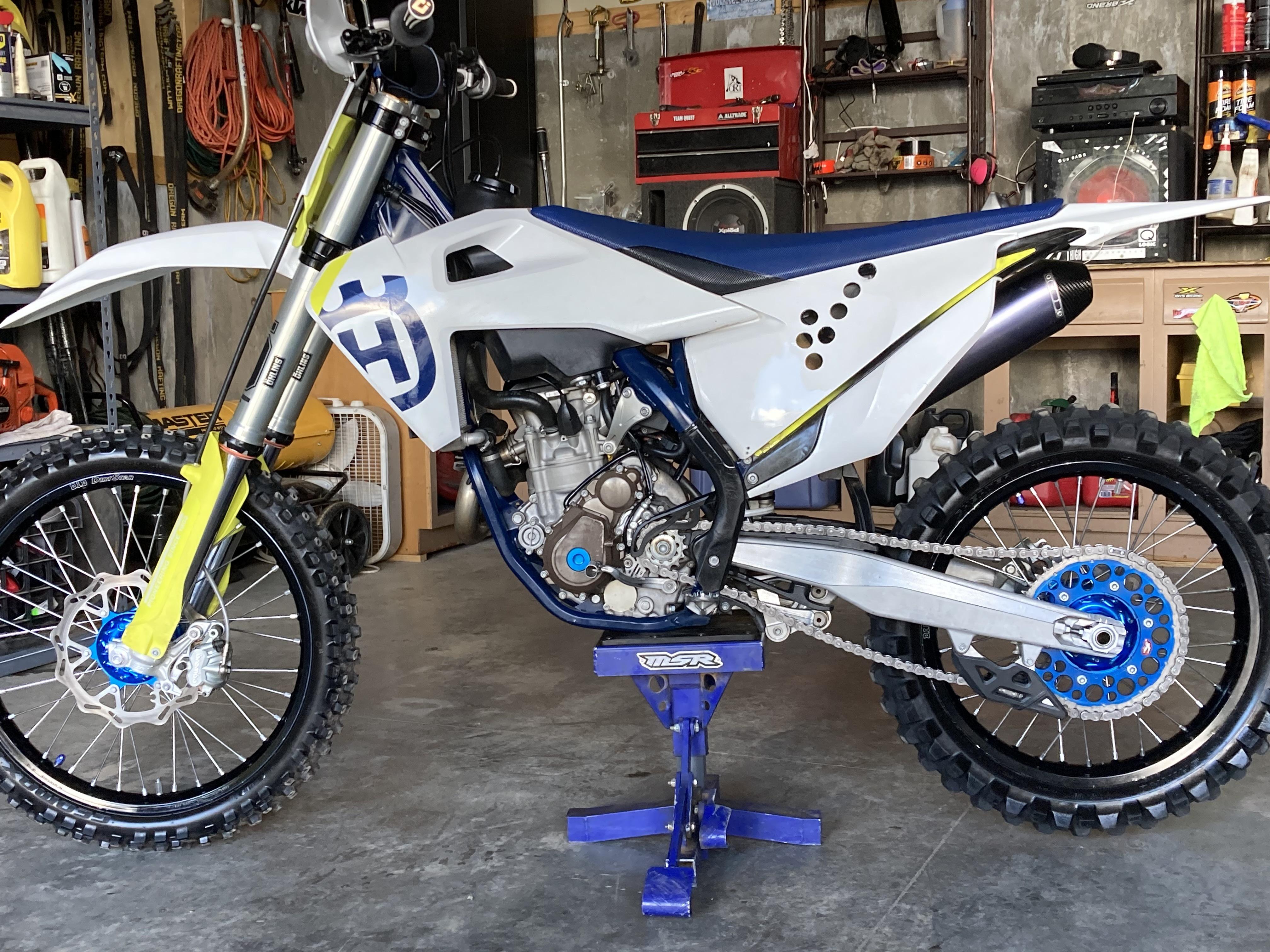 Photo Used 2019 Husqvarna Dirt Bike Motorcycle  $9300