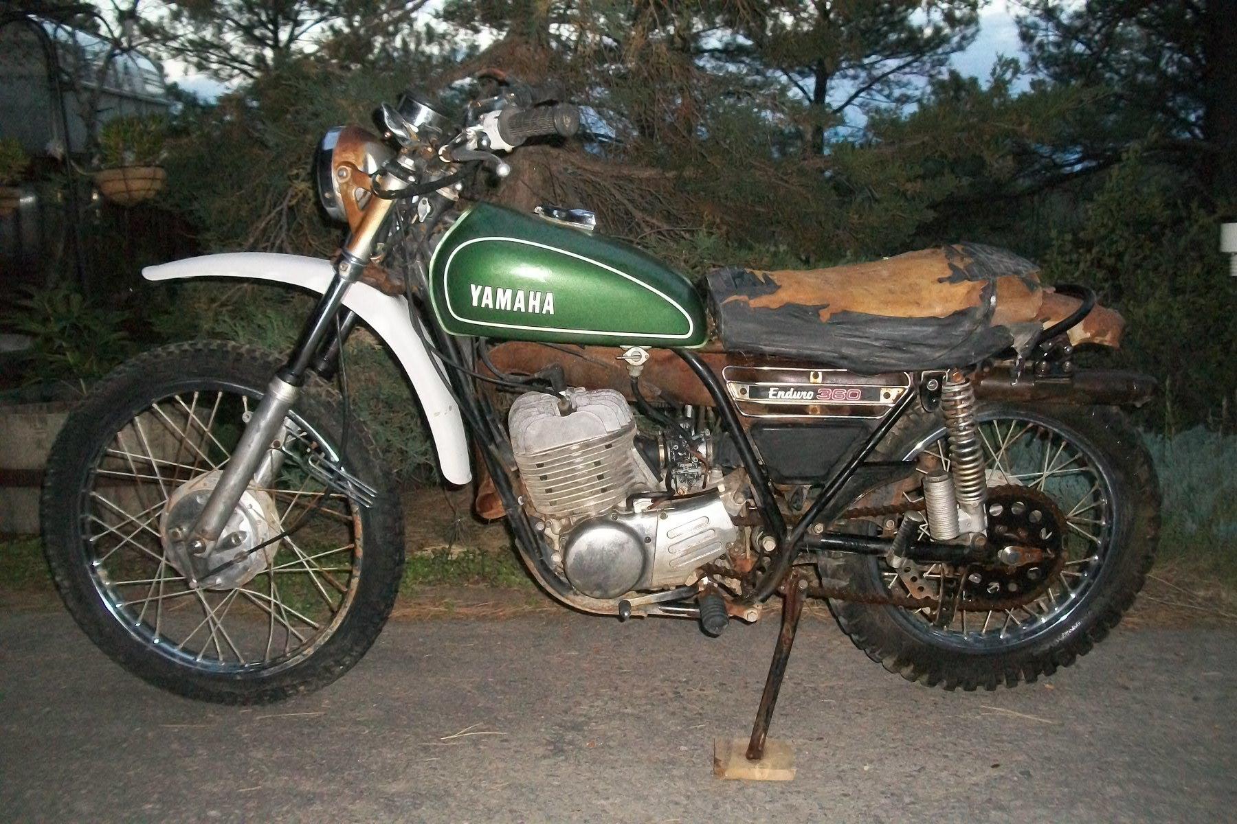 Photo Used 1974 Yamaha Dirt Bike Motorcycle  $850