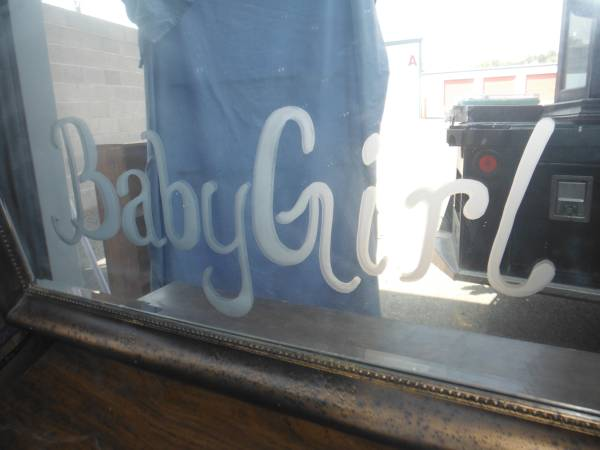 Photo beveled glass framed mirror, 39baby girl39 - $75 (la plata)