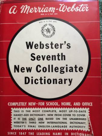 Photo 1969 Webster39s Seventh New Collegiate Dictionary Unique Edition - $15 (Whispering Pines)