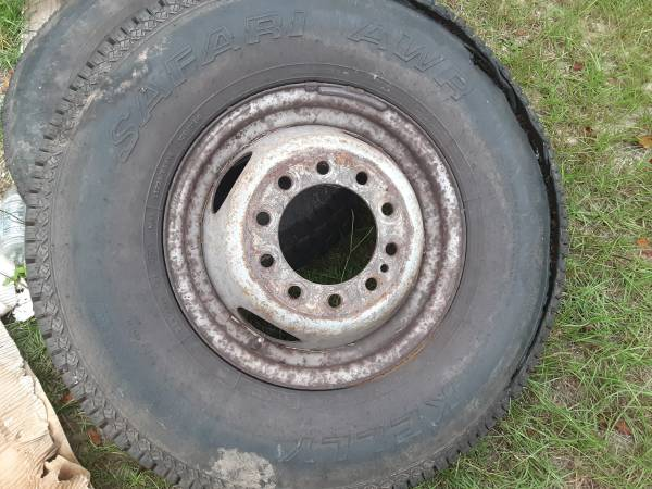 Photo 2 16quot 10 LUGS RIMS AND TIRES FOR FORDCHEVYOR DODGE TIRES ARE NO GOO - $80 (Hope mills)