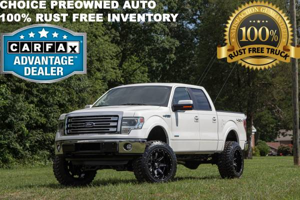 Photo 53K MILES6 INCH LIFTED RCX 2013 FORD F150 4X4 LARIAT CREW CAB LOADED - $26995 (Ford GMC Dodge Toyota Chevrolet)