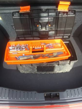 Photo Black and Decker tool box and tools - $25 (Carthage)
