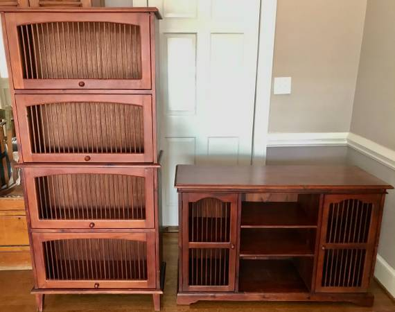 Photo Bookcase and Media Console TV stand (Pier One Imports) - $230 (Fayetteville)