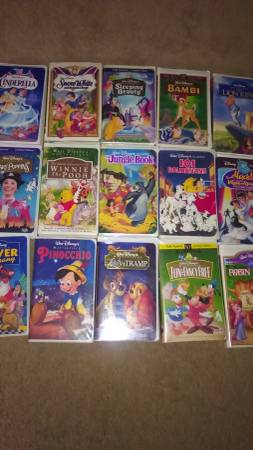Photo Children39s Disney VHS Movies - $5 (Jamestown)