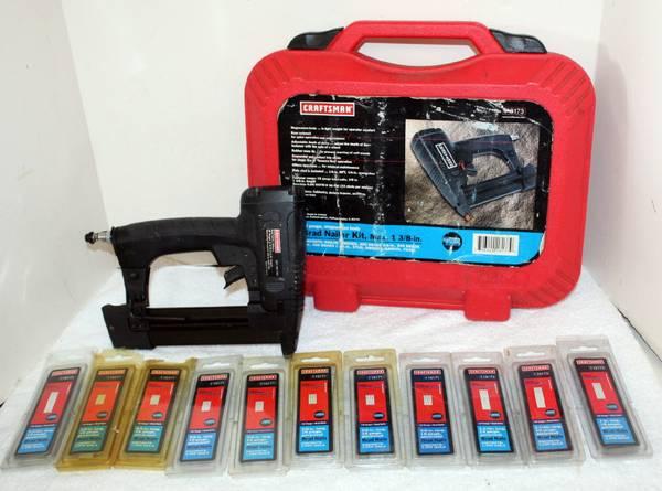 Photo Craftsman 351.181730 Brad Nailer Kit  Case  10 Boxes 18 Ga Craftsman - $190 (Lumberton)