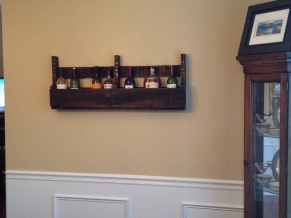 Photo Custom made wine rack (wall mounted) - $35