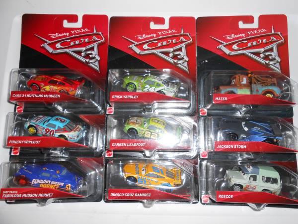 Photo Disney39s Cars 3 Mint On Card Car Lot - $50 (Lumberton)