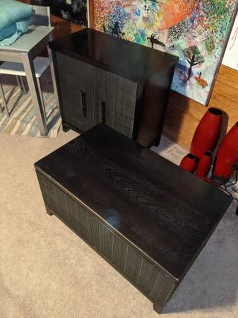 Photo Pier one Coffee table trunk and tv stand - $150 (Eagle springs NC southern pines nc)