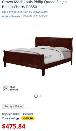 Photo Queen size Sleigh bed frame - $350 (Fayetteville)