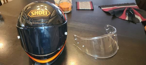 Photo Shoei motorcycle helmet with extra visor - $400 (Aberdeen)