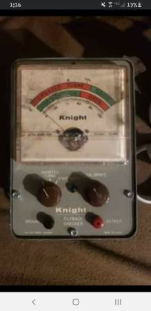 Photo Tested working Vintage 1963 Knight Flyback Checker 83Y118 - $40 (Roseboro)