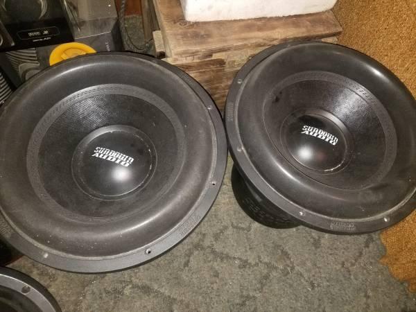 Photo Two 15quot SUNDOWN AUDIO CAR SPEAKERS  - $1,600 (Autryville)