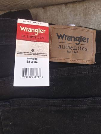 Photo Two pairs 38x34 mens Wrangler jeans - $35 (Fayetteville)