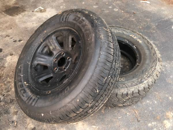 Photo 4 15 Ranger rims with all terrain and mud tires. 8total - $400 (Dundee)