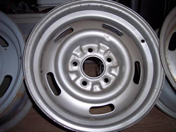 Photo 4 Chevy 15 x 7 Rally wheels FW Monte Carlo Chevelle - $275 (Phelps)