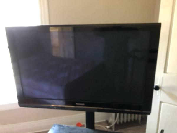 Photo 50 Panasonic Plasma TV plus stand - $60