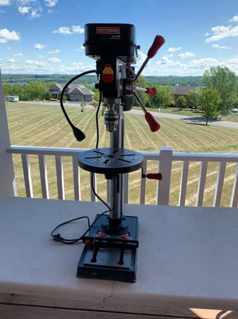Photo Craftsman 12quot Drill Press with Guiding Laser and LED Light - $200 (Canandaigua, NY)
