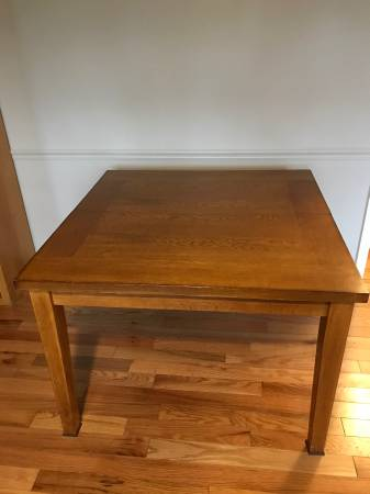 Photo Oak Dining Table with leaf - $75 (Geneseo)