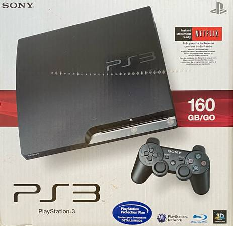 Photo SONY Playstation 3 PS3, maybe used twice. 160g. All original packaging. - $155