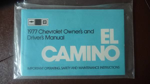 Photo 1977 Chevy El Camino Owner39s - Driver39s Manual - $20 (Oakland Twp)
