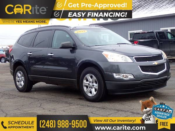 Photo 2012 Chevrolet Traverse FOR ONLY $121mo - $9,000 (CARite)