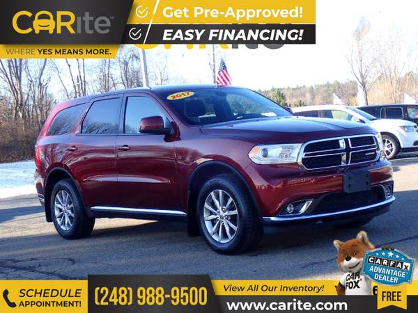 Photo 2017 Dodge Durango FOR ONLY $335mo - $24,995 (CARite)