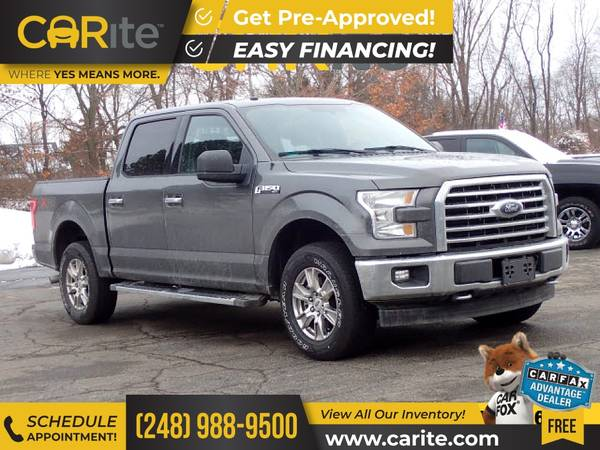 Photo 2017 Ford F150 F 150 F-150 4WD 4 WD 4-WD FOR ONLY $469mo - $34,995 (CARite)