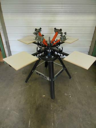 Photo 4 color 4 station screen printing press - $750