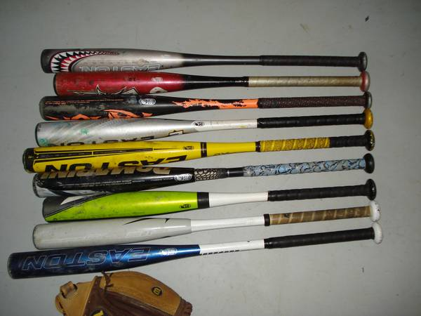 Photo Baseball Softball Bats Tee Ball Youth Adult Easton Worth Nike Rawlings - $1 (Burton)