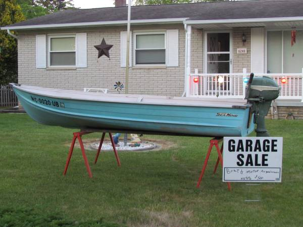 Photo Boat and Motor for sale - $500 (Flint)