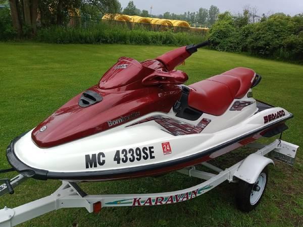Photo Jet Ski, 1998 Sea Doo GTX Limited,  Trailer, New Motor, Exceptional - $5,400 (Birch Run)