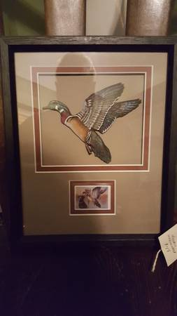 Photo Limited Edition Ducks Unlimited Duck 3D wood carving with St - $35 (SE Genesee County)