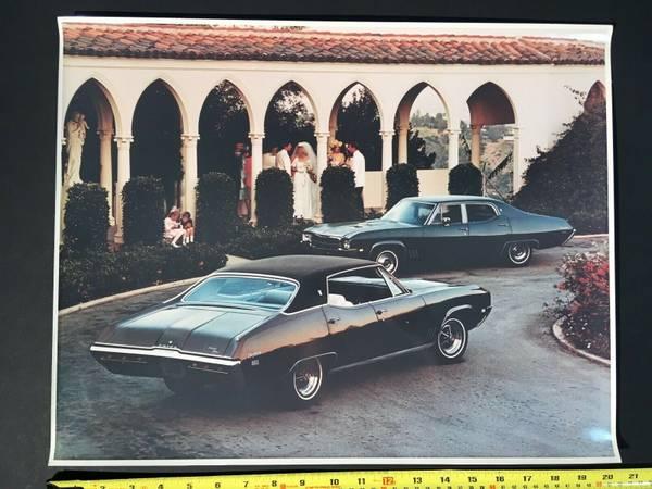 Photo ORIGINAL 16 x 20 3969 PHOTOGRAPH Buick Skylark ADVERTISING BROCHURE GM - $20 (Royal Oak)