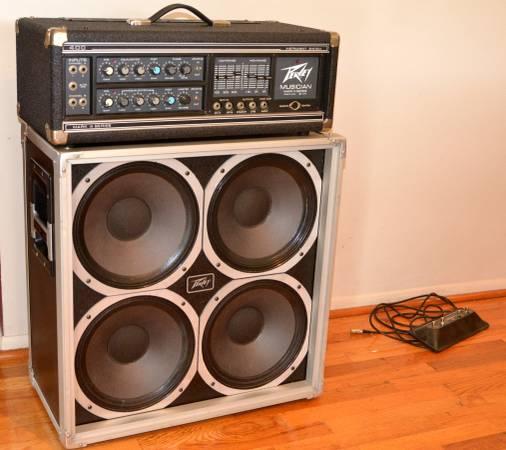 Photo Peavey Musician Mark III  and Peavey 412FC cabinet - $400 (Clio)
