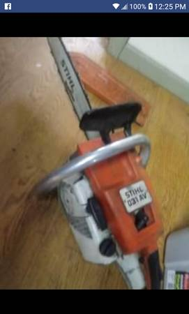 Photo Stihl 031 AV chain saw chainsaw - $185 (Columbiaville)