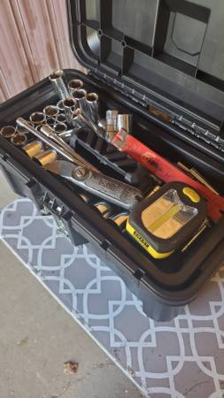 Photo Tool box with tools - $55 (Lennon)