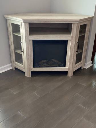 Photo Corner TV Stand with Fireplace - $70 (Florence)
