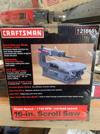 Photo Craftsman scroll saw - $80 (Sharon)