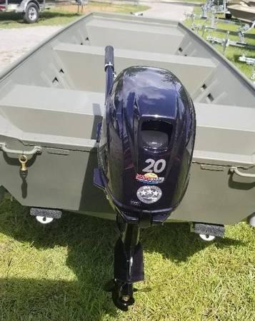 Photo SOLD 2021-1542F WELD-CRAFT JON BOAT 20 Tohatsu Wesco Trailer - $6,995 (Robins Marine)