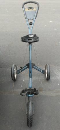 Photo Bag Boy Express Blue, Enhanced Air Ride System 3 Wheel Push Cart. - $90 (Greeley)